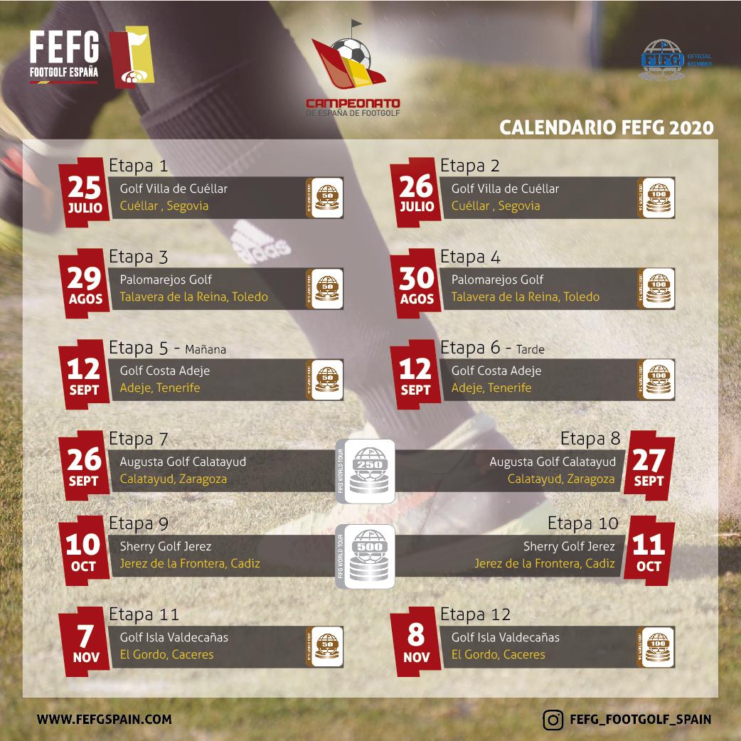 Calendario FEFG 2020